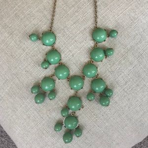 Turquoise bauble necklace! So cute!